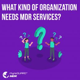 What kind of organizations need MDR services?