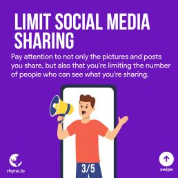 Don't share everything in social media