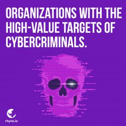 Organizations with the high-value targets of cybercriminals