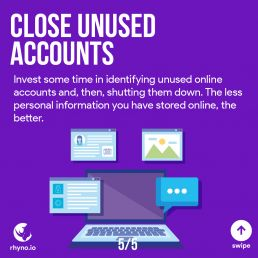 Don't leave unused accounts over there